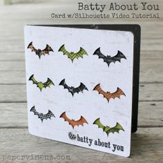 """PaperVine: """"Batty About You"""" Card Video Tutorial (Echo Park) Halloween Cards, Holidays Halloween, Halloween Themes, Halloween Stuff, Fall Cards, Holiday Cards, Thanksgiving Cards, Holiday Fun, Stampin Up"""