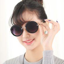 new 2014 fastion sunglasses women gafas oculos de sol feminino fashion round sun glasses with original box black sun glasses