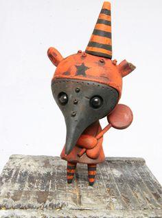 Custom Wandering Misfit – Drilone Orange Plague Elizabeth by Drilone, Kathie Olivas, Brandt   Circus Posterus