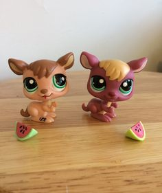 Two LPS Kangaroos in great condition! No longer includes two watermelons. Little Pet Shop Toys, Luanna, Kangaroos, Lps, Minis, Letter, Babies, Babys, Kangaroo