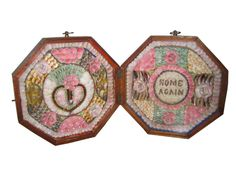 1870 Sailor's Valentine ~ brought home from a sailor's voyage at sea for his loved one in the late 1800s. So Pretty.