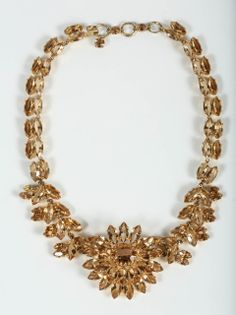 Christian Dior 1961 Amber Crystal Necklace