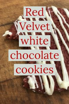 Try this amazing recipe White Chocolate Creme Brulee, White Chocolate Cookie Recipes, White Chocolate Chips, Southern Desserts, Fancy Desserts, Red Velvet Recipes, Red Velvet Cookies, State Foods, Food Tips