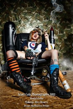 Classic Tank Girl images recreated in photography - Robot 6 @ Comic Book ResourcesRobot 6 @ Comic Book Resources Tank Girl Cosplay, Cosplay Girls, Amazing Cosplay, Best Cosplay, Morgana Le Fay, Imperator Furiosa, Marla Singer, Halloween Disfraces, Female Poses