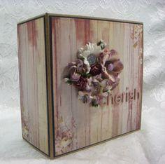 TPHH Sharon Kraft/Black Chipboard PRIMA Butterfly Keepsake Scrapbook Photo Album #PrimaMarketing