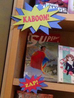 Librarian on Display: April: Graphic Novels Display