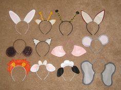 haarband, diadeem, dieren, oren, dierenoren, aap, kat, poes, muis, giraf, leeuw, tijger, muis, varken, konijn, schaap, panter, bij, wesp, ez...