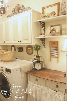 Farmhouse Laundry Room-How I Found My Style Sundays- From My Front Porch To Yours
