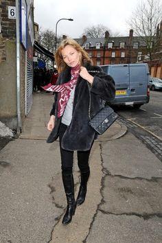 la modella mafia Kate Moss street style model off duty Spring : Fall 2013 8