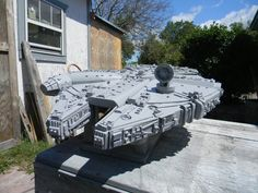 Star Wars Millennium Falcon made from scratch, in wood, by the most amazing man in the planet! My Dad! :)