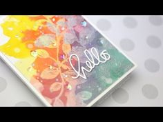 Layered Stenciling with Masking & Misting - YouTube