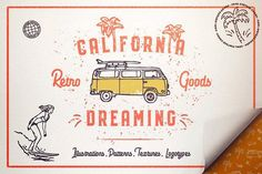 California Dreaming • Graphic Pack by Vintage Voyage Design Co. on @creativemarket