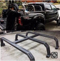 Spent the day working on this roof rack New Trucks, Custom Trucks, Cool Trucks, Toyota Trucks, Chevy Trucks, Pickup Trucks, Pick Up, Truck Accesories, Overland Truck