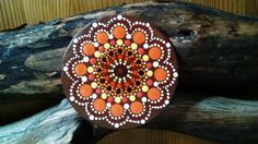 Mandala Magnet ~ Hand Painted Acrylics on wood~ Miranda Pitrone~ Gift Idea ~Dot art. Pointillism by P4MirandaPitrone on Etsy