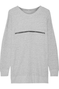 R13 Zip-detailed cotton-terry sweatshirt | NET-A-PORTER