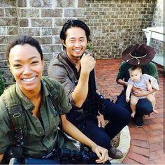 The Walking Dead- Sasha; Gleen; Carl and Judith
