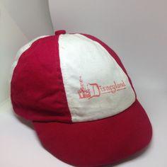 Vtg red 1950s 50s MICKEY MOUSE DISNEY BALL CAP HAT DISNEYLAND Child Kids Toddler