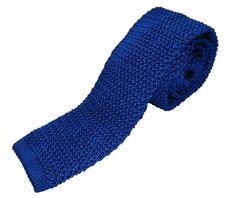 Nick Bronson - Plain Royal Blue - Silk Knitted Tie