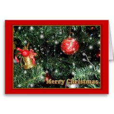 Christmas Tree Ornaments Card by elenaind