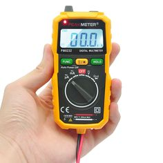 PEAKMETER PM8232 Portable High Precision Non-contact Digital Multimeter DC AC Voltage Current Capacitance Mini Safety Tester