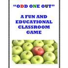 """We used to play a very fun language arts game called """"Odd One Out"""" with our teachers at school long ago, and I have put together a description of t..."""