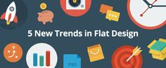 On the Creative Market Blog - 5 New Trends in Flat Design
