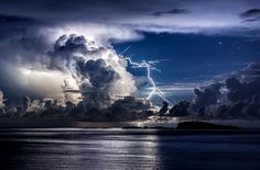 Divine light 2 - One more from the series of thunderstorm photos over the coast of Dubrovnik. Photography by Edin Dzeko