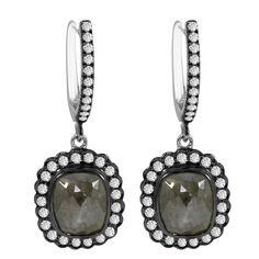 Icy Diamond Gold Dangle Earrings