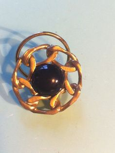 Beautiful 50s antique vintage gold and black by yorkshiretreasure