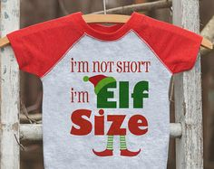 Kids Christmas Outfit - I'm Elf Size Shirt - Funny Kids Christmas Shirt or Onepiece - Boy or Girl - Kids, Baby, Toddler, Youth Elf Shirt