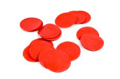 RED CONFETTI (33 grams) - Red Pre-Cut Confetti Circle Tissue Paper (2.5cm / 1 inch Diameter) - Light & Co