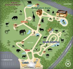 San Jose Zoo Map