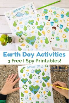 Enjoy Earth Day Activities with kids using these 3 free I Spy printables. Wodnerful ways to celebrate this special day! #earthdayactivitieswithkids #earthdayfun #earthdaywithkids #earthdayispy #freeearthdayprintables #earthdayprintables
