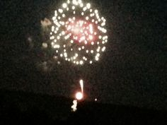 Fireworks over the super moon. July 12, 2014.  4H Center  Front Royal, Va