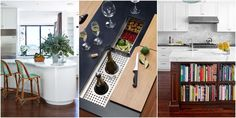 Love the pet shelf! 13 Dreamy Kitchen Island Upgrades That Would Change Everything  - HouseBeautiful.com