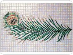 mosaic peacock feather
