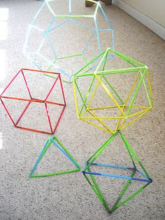 Zometool alternative: constructing all the Platonic solids out of straws and pipe cleaners