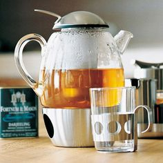 WMF SmarTea 3-Piece Tea Set 121.99 to 135. Designed by Metz and Kindler. Tea light holder in stainless steel base with stainless steel infuser. Mugs sold separately.
