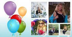 Montagem de Aniversário com 5 fotos