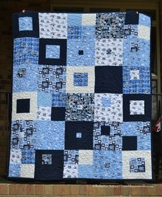 UNC Chapel Hill Quilt #3: check out their links for UNC fabrics