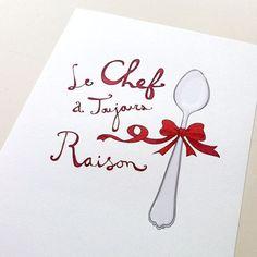Le Chef  Aline. ♥
