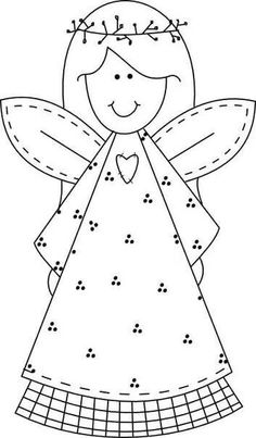 Printable Christmas smile face angel coloring pages for kids - Free Printable Coloring Pages For Kids.Free Printable Coloring Pages For Kids. Angel Coloring Pages, Printable Coloring Pages, Coloring Pages For Kids, Coloring Books, Free Coloring, Coloring Sheets, Adult Coloring, Applique Templates, Applique Patterns