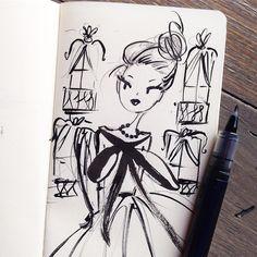 Coffee shop sketch. #ashesupplyco #sketch