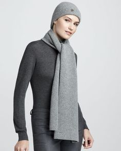 Sciarpa Rougemont Knit Cashmere Scarf by Loro Piana at Bergdorf Goodman.