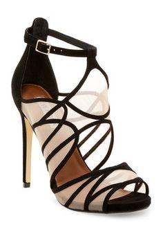 4f6ff93794b Proxi Stiletto Heel Caged Sandal Steve Madden Ankle Wrap Sandals