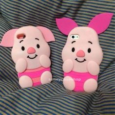 Disney Cartoon piglet Pig Soft Silicone Case cover for Apple iphone5s 5g 4S 4G