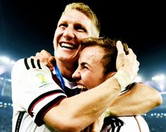 """""""Bastian told me: You realised my dream, you made me the happiest man in the world!"""" - Mario Goetze"""