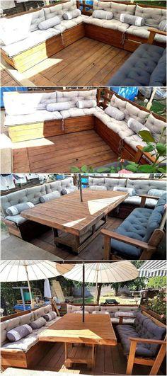 wood pallet terrace ideas 22