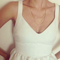 Dainty Necklace Swarovski Pearl Necklace Bridal by LuluMayJewelry