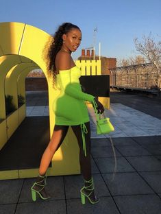 Baddie Outfits – Page 3878856316 – Lady Dress Designs Neon Green Outfits, Dope Outfits, Stylish Outfits, Summer Outfits, Girl Outfits, Fashion Outfits, Vacation Outfits, Black Girl Fashion, Look Fashion